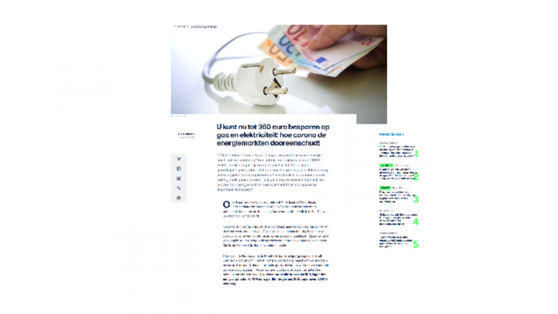 U kunt nu tot 360 euro besparen op gas en elektriciteit: hoe corona de energiemarkten dooreenschudt